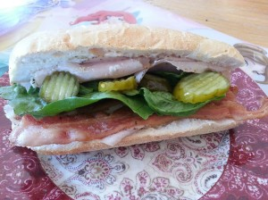 Turkey and bacon deli sandwich