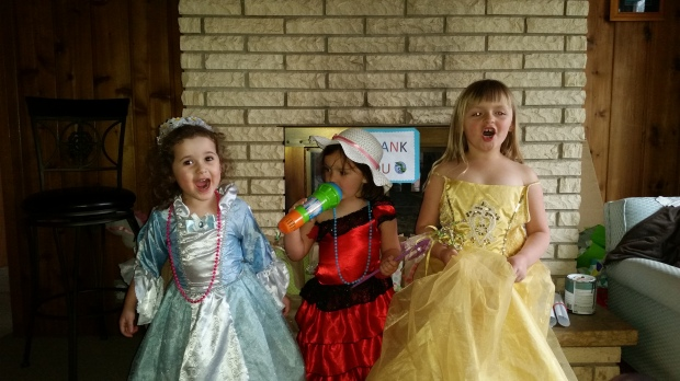Eowyn with her friends, Brianna and Isabel