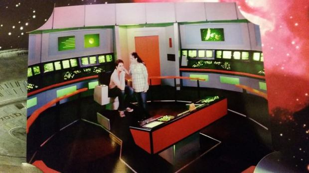 Tyler and I being nerds at the Star Trek exhibit