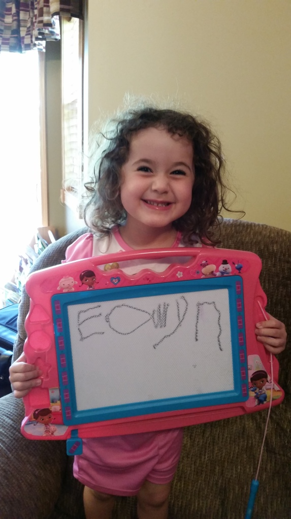 """Mom, I wrote my name all by myself!"""