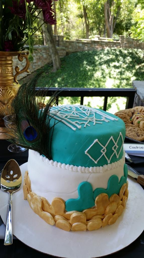 Art Deco Fondant Cake