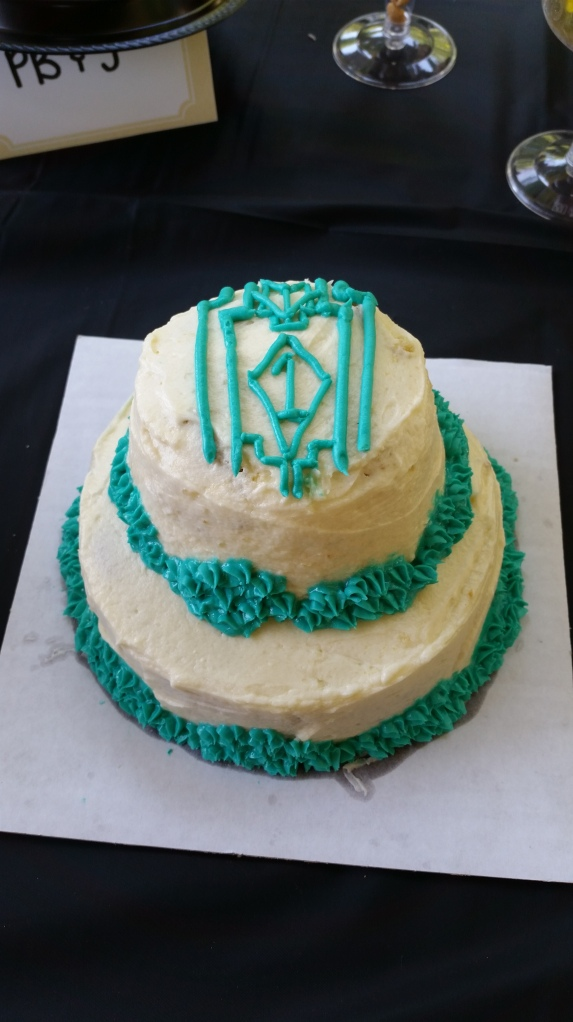 Matching Art Deco Smash Cake